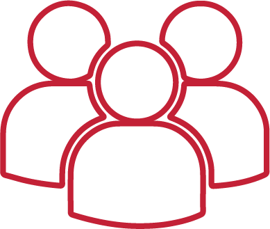 Member icon in red outline