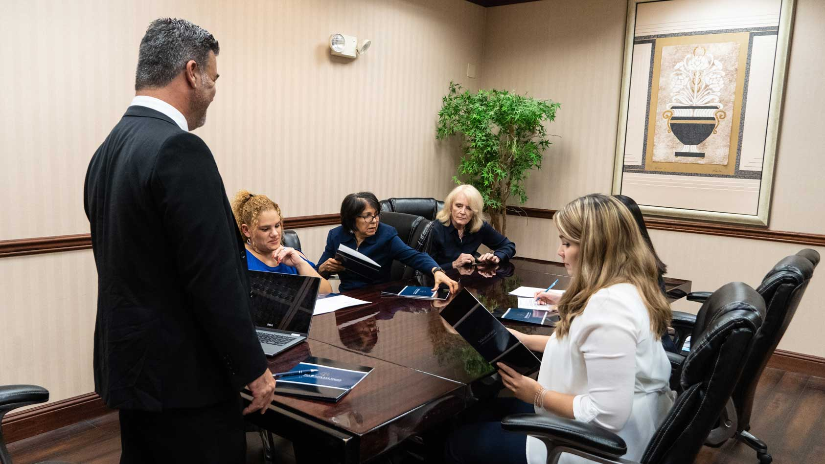 Professional meeting of lawyers at the conference room